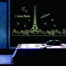 compare prices on paris decoration bedroom online shopping buy i love paris night eiffel tower wall stickers for bedroom decoration luminous stickers wall decals living