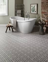 our hardwicke lattice vinyl tile in pebble grey looks great