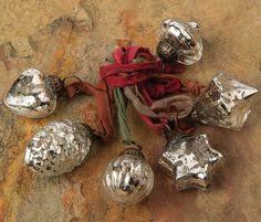 silver wave mercury glass ornament splendor