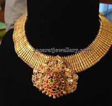 diamonds gold necklace images Broad gold necklace by meera diamonds gold necklaces diamond jpg