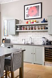 ideas for kitchen shelves stunning open kitchen shelves ideas with table and black chairs