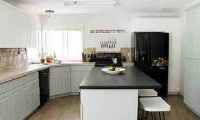 How To Paint Kitchen Cabinets by Our Painted Kitchen Cabinets Chris Loves Julia