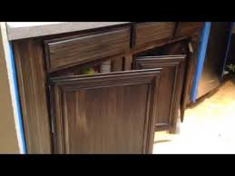 Glaze Over Painted Cabinets Antique Gel Stain Glazing On Light Cabinets Youtube