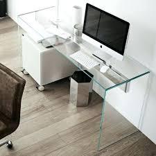 bureau pour ordinateur design meuble informatique design blanc bureau en a sign transparent high