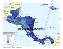 Maps Of Central America by Stockmapagency Com Maps Of Central America Offered In Poster Print