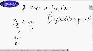 tutor for math similar and dissimilar fractions home service