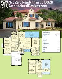 plan 33180zr spanish influenced net zero ready house plan