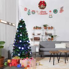 4ft christmas tree 4ft pre lit fiber optic artificial christmas tree w multicolor