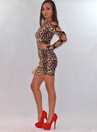 cut out dresses leopard print cut out mini dress