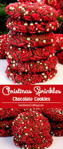 christmas sprinkles chocolate cookies two sisters crafting