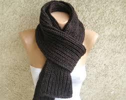 Mens Rib - ombre gray scarf alpaca scarf striped earth