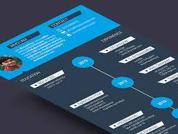 free resume templates download psd design free flat resume template download in comment design resume