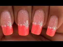 easy quick star nail art design tutorial pink glitter youtube