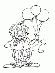 clown coloring pages print awesome draw fish