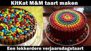 kitkat m u0026m cake maken youtube