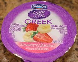 dannon light and fit nutrition dannon light fit strawberry banana review youtube