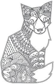 design coloring pages pdf design coloring pages possible template doodle fox design coloring