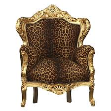Throne Style Chair Leopard Throne Antique Style Salon Dining Chair French Louis