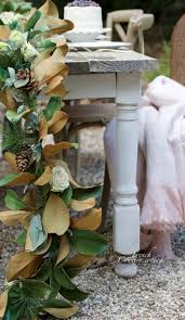 magnolia garland centerpiece with a secret country cottage