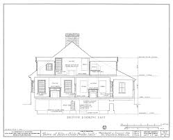 House Drawing by File Drawing Of A Section Looking East Of The Felix Vallee House