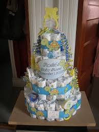 28 cake made out of diapers for baby shower minicupids baby