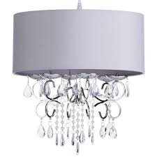 Chandelier Shade Crystal Chrome Chandelier Pendant Light With Crystal Beaded Drum