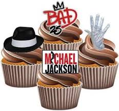michael cake toppers 12 x michael jackson 4 mix cake toppers edible decorations