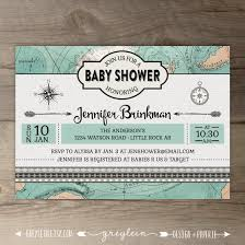 travel themed baby shower travel theme baby shower invitations vintage map