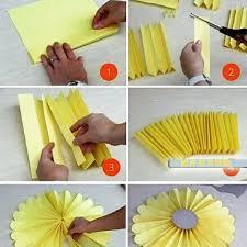 membuat hiasan bunga dari kertas lipat cara mudah membuat kipas bunga kertas cara mudah