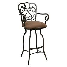 Upholstered Bar Stools With Backs Furniture Black Metal Bar Stool With Brown Velvet Seat And Carved
