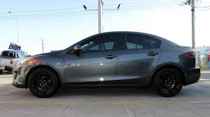 black wheels mazda 3 custom rims 18 inch king shadow black wheels youtube