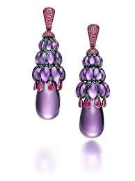 amethyst earrings melody of colours amethyst earrings de grisogono the jewellery