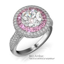 Pink Diamond Wedding Ring by Pink Diamond Engagement Rings