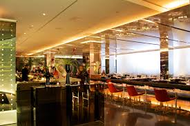 Prune Restaurant by Moma Nyc Reflective Newmat Ceiling Panels Mirrored Columns