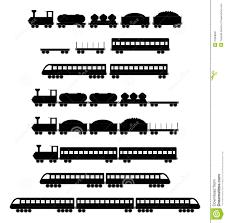 set of train vectors royalty free stock photography image 37858687