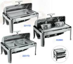 china full size hydraulic roll top chafing dish set with food pan