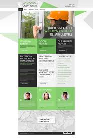 website template 52720 windows door repair custom website