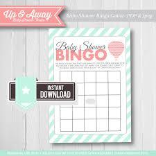 baby shower bingo up and away baby shower air balloon