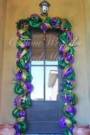 mardi gras mesh mardi gras mesh door garland swag custom by customwreathsandmore