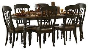 Traditional Dining Room Set Homelegance Ohana 5 Piece Rectangular Dining Room Set In Black