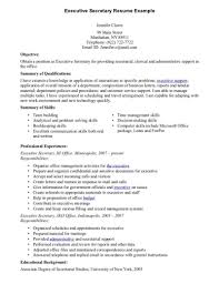 secretary objective for resume examples haadyaooverbayresort com