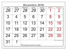 Calendario Diciembre 2018 Calendario Para Imprimir Diciembre 2018 Oseus España