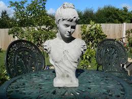 garden statue bust ornament cast with concrete