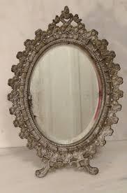 Antique Vanity With Mirror And Bench - nice looking vintage vanity mirror makeup mirror on stand vintage