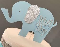 baby elephant cake topper baby shower elephant cake topper