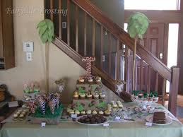 safari themed baby shower ideas jungle dessert table baby shower diy