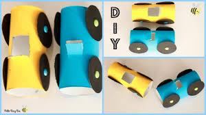 bricolage noel avec rouleau papier toilette diy fabriquer une petite voiture avec un rouleau de papier