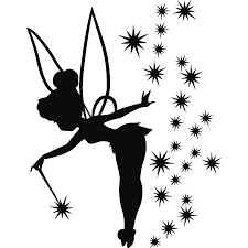 sticker fée adorable tinkerbell silhouettes and tattoo