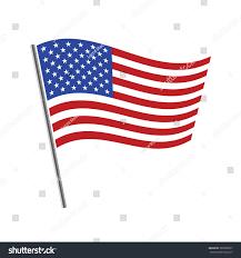 United Staes Flag United States Flag Waving Vector Illustration Stock Vektorgrafik