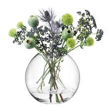 mackenzie childs vase buy lsa international globe vase clear 26cm amara